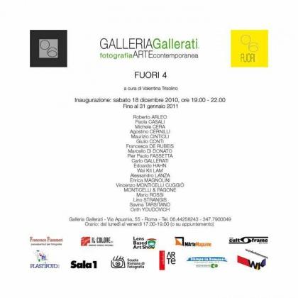 MOSTRA. 06, Fuori 4 (collettiva). Galleria Gallerati, Roma. Sabato, 18 dicembre 2010
