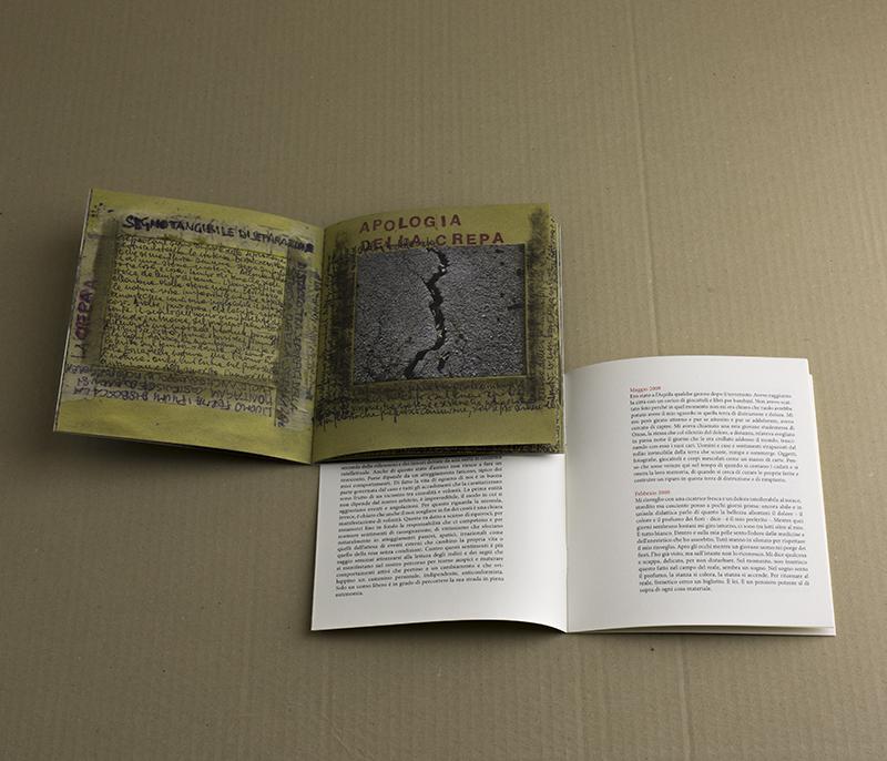 Copia del libro Senza Apparente Motivo, elegia per l'Aquila (edizione standard) / 20 euro - cofanetto con due percorsi narrativi uno testuale e uno foto-grafico prezzo: 20 euro spedizione: inclusa